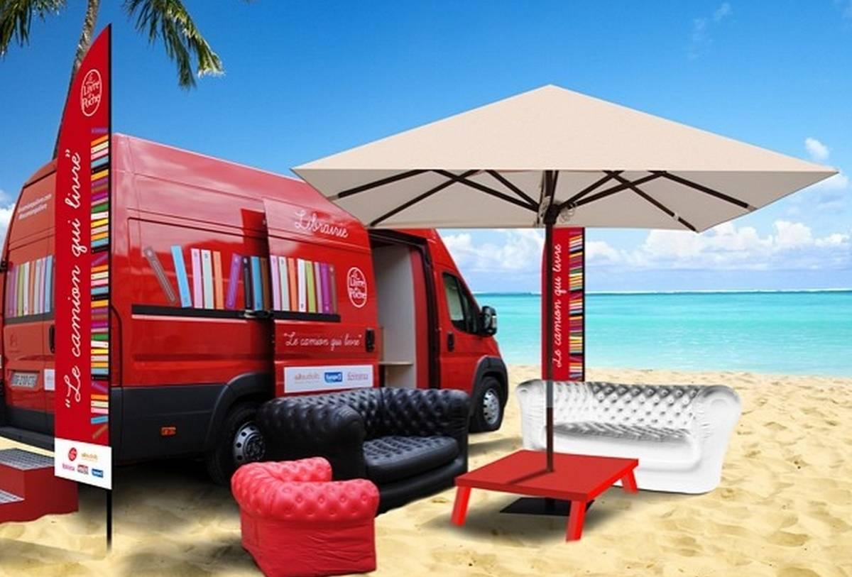 camion qui livre,librairie,livre,littérature,livre de poche
