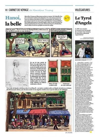 marcelino truong,saga,journal du dimanche,presse,carnets de voyage,vietnam,indochine,hanoi,guerre