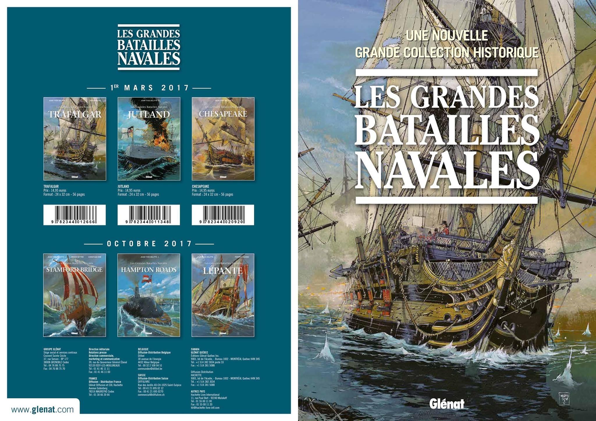 série,bd,éditions glénat,les grandes batailles navales,mer,océan,histoire,marin