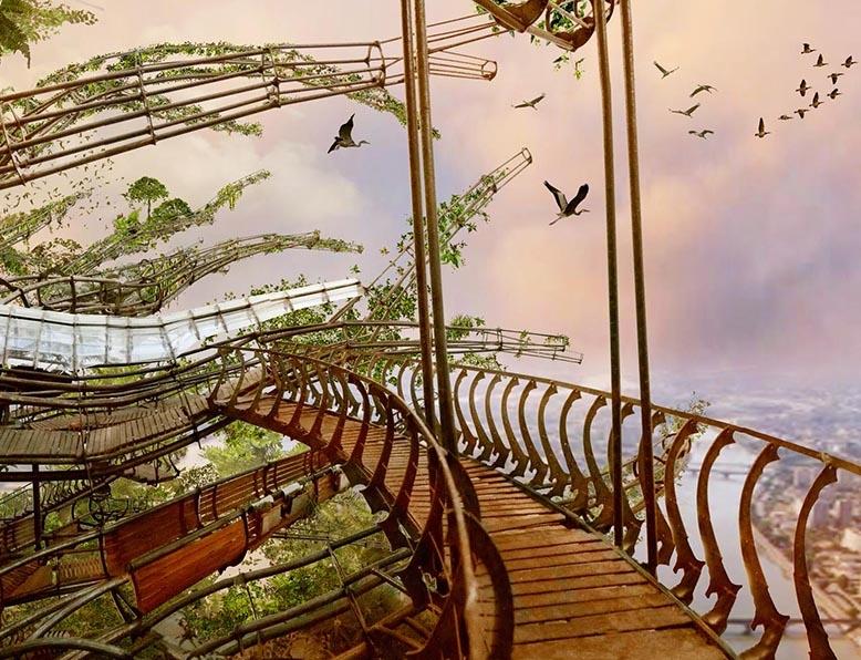 patrimoine,nantes,les machines de l'ile,l'arbre aux hérons,univers,jules verne,léonard de vinci,histoire,port,industriel,concepteurs,françois delaroziere,pierre orefice billet,stéphane dugast