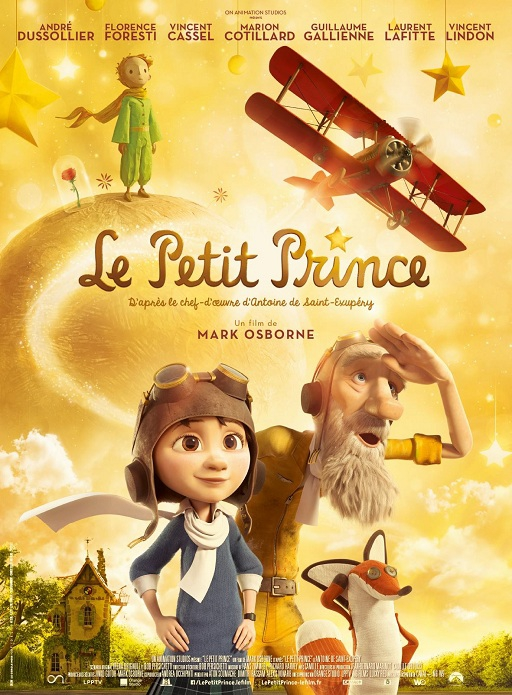 le petit prince,saint exupery,saint ex,roman,litterature,cinema,mark osborne,paramount