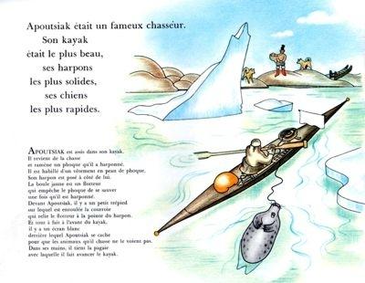 livre, jeunesse, 70 ans, apoutsiak,le petit flocon de neige, paul-emile victor