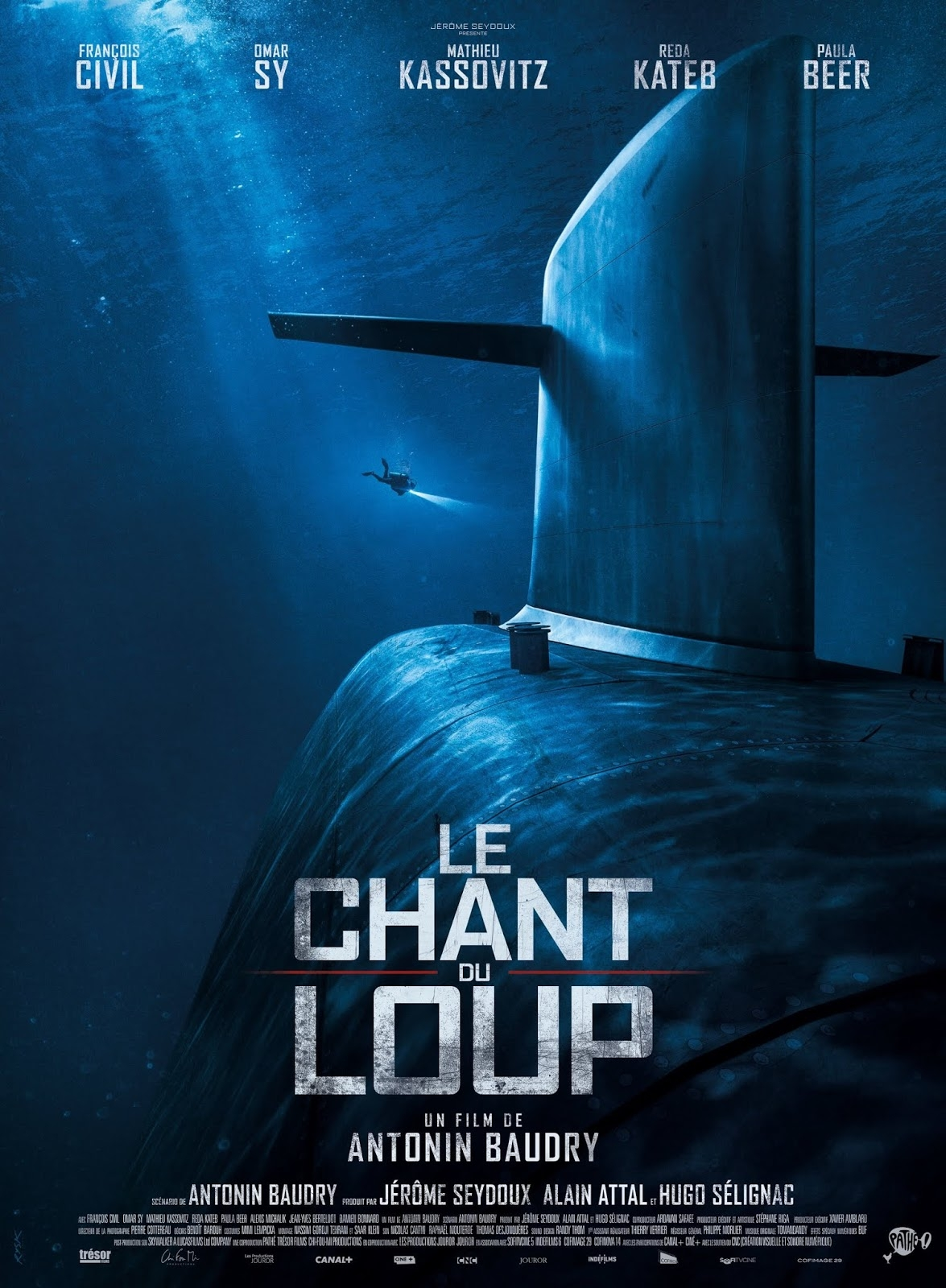 film, cinéma, 2019, le chant du loup, antonin baudry, mathieu kassovitz,omar sy, marine, sous-marin, pathé films