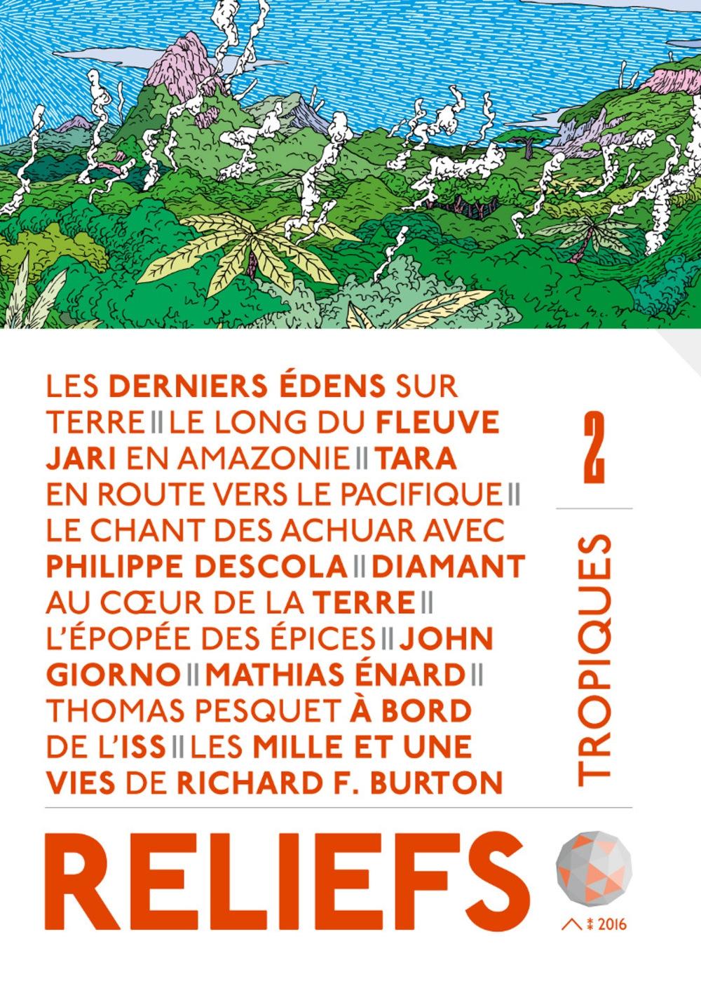 revue reliefs, tropiques, richard francis burton, stéphane dugast,