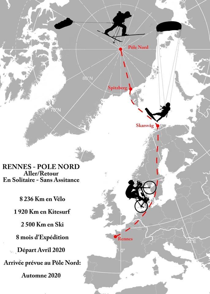 expédition,vincent grison,aller-retour,rennes,pôle nord,vélo,kitesurf,ski,défi,sans assistance,solitaire,lauréat 2019,bourse,la guilde,polaire