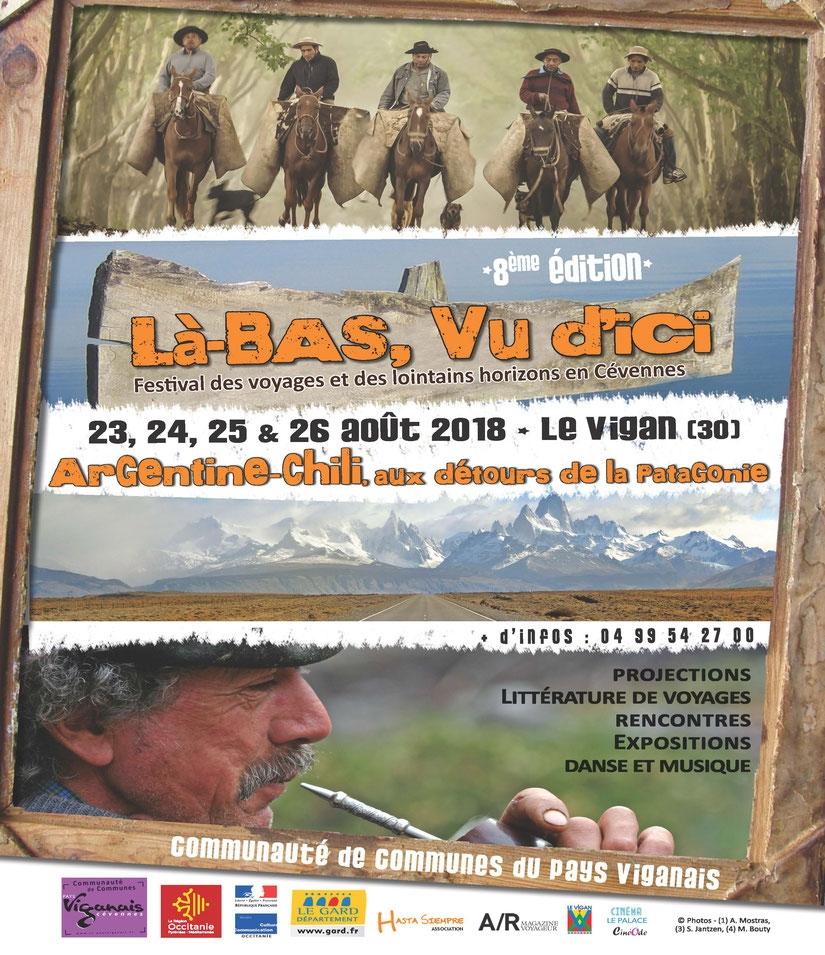 festival, voyages, lointains, horizons, Là-bas, vu d'ici, Le Vigan en Cévennes, Gard, édition 2018, patagonie, chili, argentine,